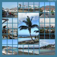 Photo Collage Views Of Playa Blanca, Lanzarote