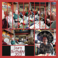 Photo Collage Joe's Birthday - Page 1