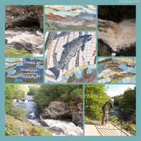 Photo Collage Mosaic At  Falls Of Shin