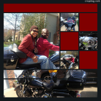 Photo Collage New Toy-Harley Davidson