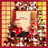 Photo Collage Elf On The Shelf