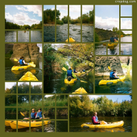 Photo Collage Kayaking The Verde River