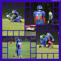 Photo Collage Ready For Some Football