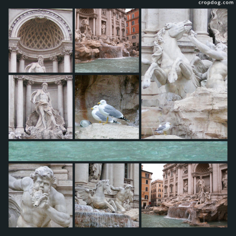 Photo Collage The Trevi Fountain, Rome