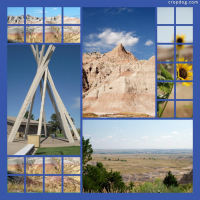 Photo Collage The Badlands