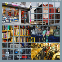 Photo Collage Vintage Store Shopping