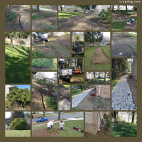 Photo Collage Trench Landscape Project