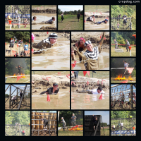 Photo Collage 2013 Warrior Dash Obstacles