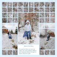 Photo Collage Queen Of The Snow