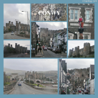 Photo Collage Conwy In Many Shades Of Grey