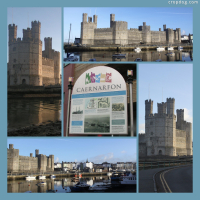 Photo Collage Caernarfon Castle