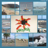 Photo Collage Lanzarote, Canary Islands