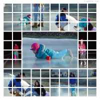 Photo Collage Winter Playtime