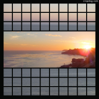 Photo Collage Malibu Sunset