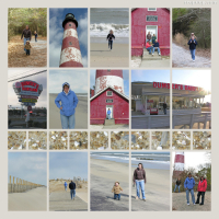 Photo Collage Chincoteague Light House