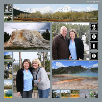 Photo Collage Yellowstone