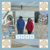 Photo Collage Eastern Shore In The Winter