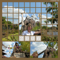 Photo Collage Expedition Everest - Animal Kingdom