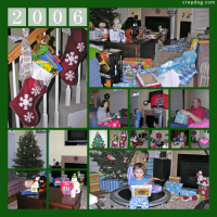 Photo Collage Christmas Morning 2006