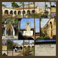 Photo Collage Mission San Juan Capistrano