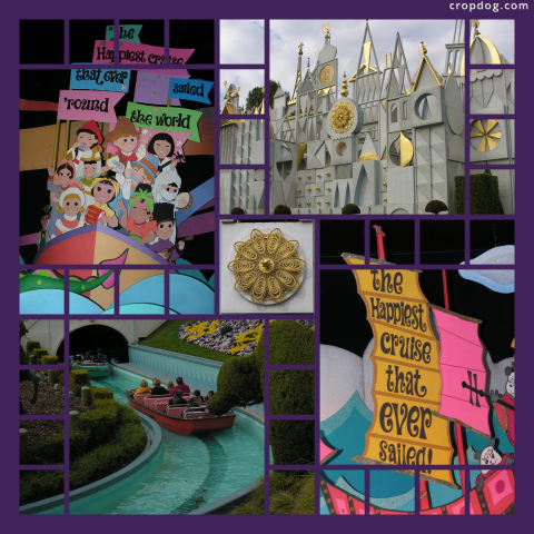 Photo Collage It's A Small World
