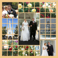 Photo Collage California Wedding
