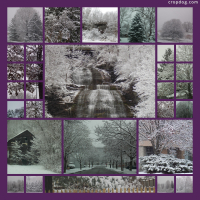 Photo Collage Winter Wonderland